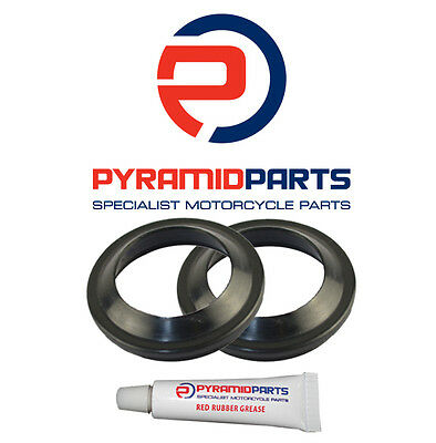Pyramid Parts Fork Dust Seals for: Yamaha YZF-R6 99-04 (43mm)