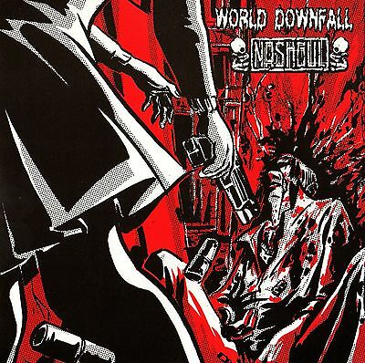 "Nashgul / World Downfall - Split 7"" (2006) Spanien / Japan Grindcore"