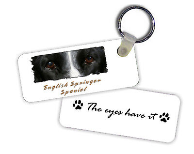 English  Springer  Spaniel    The  Eyes Have It   Key  Chain