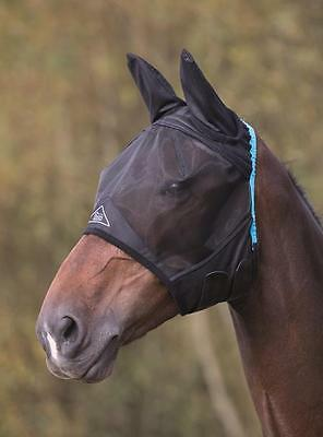 Shires fine mesh fly mask hood veil, UV protection with full face & ears