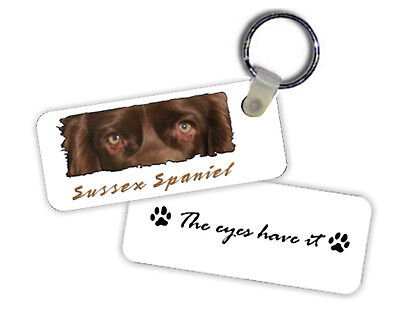 Sussex  Spaniel    The  Eyes Have It   Key  Chain