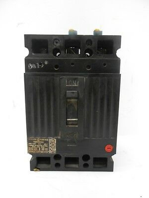 General Electric, Circuit Breaker, Part No. Ted134040, 480Vac, 40A, 40C, 3 Pole