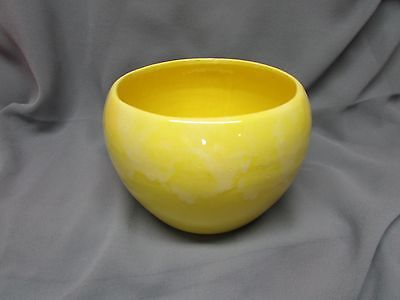 Yellow California Pottery Pot, Old 1960s,, signed on bottom.