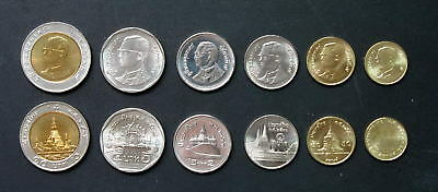 Thailand Coin Circulation Set UNC - OLD KING PORTRAIT
