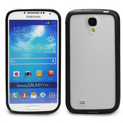 Ultra Black Hybrid Soft Protective Case Cover for Samsung Galaxy S4 S IV 4 i9500