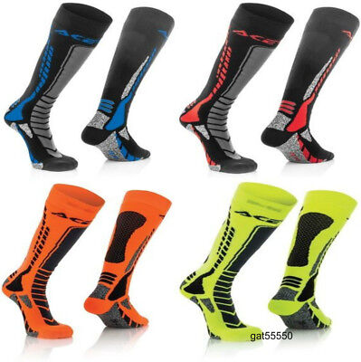 New Acerbis Adult Knee Length Thick Socks Motocross Mx Enduro Trials Ktm Kx Yz
