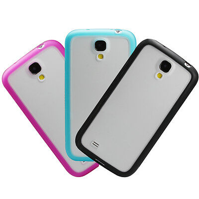LOT 3 Colors-Hybrid Soft Protective Case Cover for Samsung Galaxy S4 SIV 4 i9500