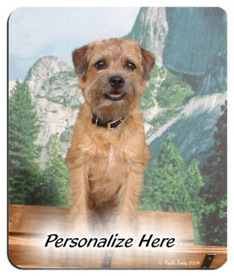 Border  Terrier  Personalized  MousePad