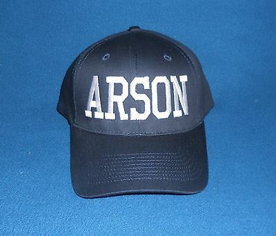 ARSON Hat Firefighter Fire Department Arson Investigator