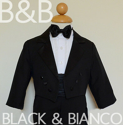 Boys Tuxedo with Tail Toddler Infants Ring Bearer Size (0-24 Months) 2T 3T 4T