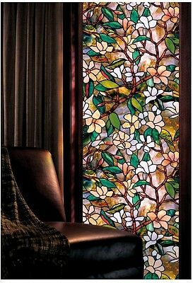 Magnolia Window Film 24 By 36 Inch, Transform Window Art, Easy Install, Privacy