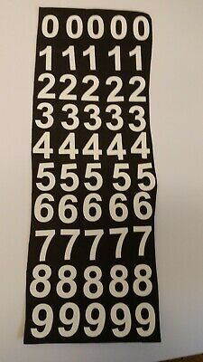 "WHITE ADHESIVE weatherproof VINYL NUMBERS 2"" HIGH x 50"