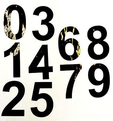 "3"" HIGH BLACK ADHESIVE NUMBERS  x 10 0-9 1 OF EACH NUMBER indoor/outdoor use"
