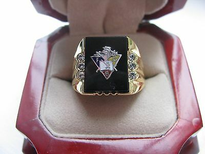 Superb NEW Mens Knights of Pythias Crest Ring