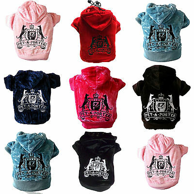 Small Dog puppy hoodie coat jacket clothes juicy stylish PET-A-PORTER couture