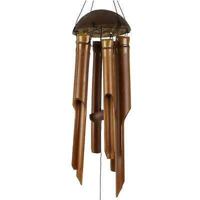 Asita Gift & Home Small Bamboo Wind Chime Brown Feng Shui Spring Summer Garden