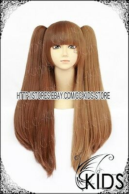 Lolita party cosplay wig brown color 2 clip Gothic