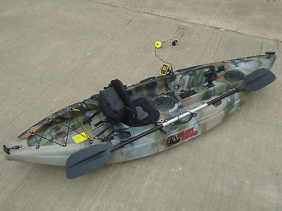 Sit On Top Fishing Kayak Galaxy Cruz With Fishfinder And Trolley New 2016 Model