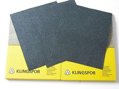 Wet And Dry Sandpaper 60 - 7000 Grit Klingspor Sand Paper Mixed You Choose