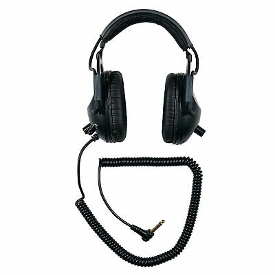 Sun Ray Pro Gold Original Metal Detector Headphones Angled Plug Improved Cable