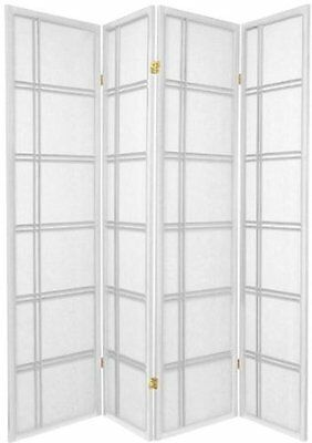 3 and 4 panel Shoji  Screen Room Divider in White