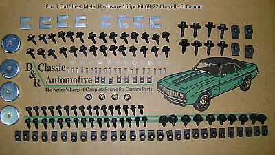 Front End Sheet Metal Hardware 166pc Kit 68-72 Chevelle El Camino bolts 69 70 71