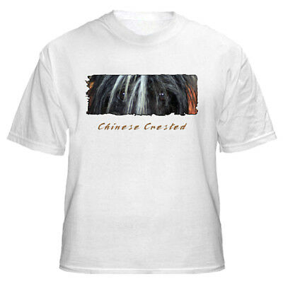 """Chinese Crested  # 3   """"The Eyes Have It'   Custom   T shirt"""