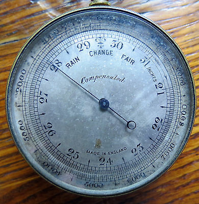 Antique Pocket Barometer & Altimeter - Made In England