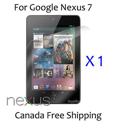 Clear Glossy front Cover Screen Protector ASUS Google Nexus 7 Tablet 7 inch