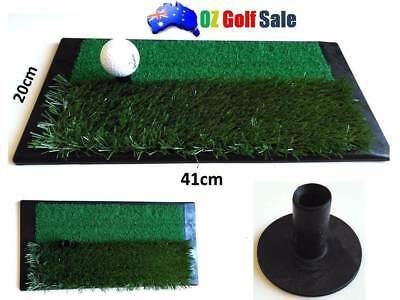 NEW 92cm x 51cm x 3cm COMMERCIAL QUALITY GOLF DRIVING & CHIPPING MAT - Free Tees