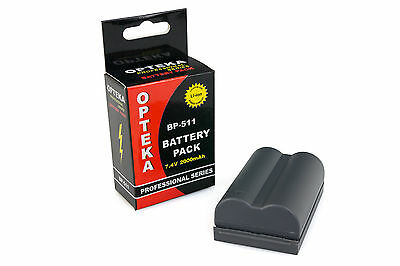 Opteka BP-511 BP511 Battery 2000mAh for Canon EOS 1D 5D 10D 20D 30D 40D 50D 300D
