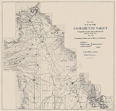 Sacramento Valley California - Britton and Rey 1890 - 23.94 x 23