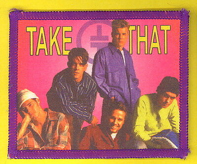 Take That 1993 uk sew-on cloth patch UNUSED #7