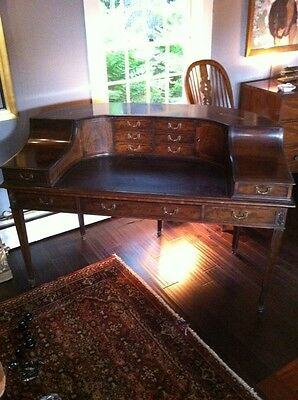 Original Rare SOLID Mahogany English Carlton Desk ,5 legs, Circa late 1700s.
