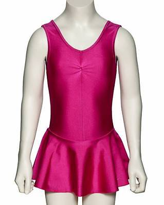 Girls Lycra Ballet Dance Leotard With Skirt Dress All Colours KDR005 By Katz
