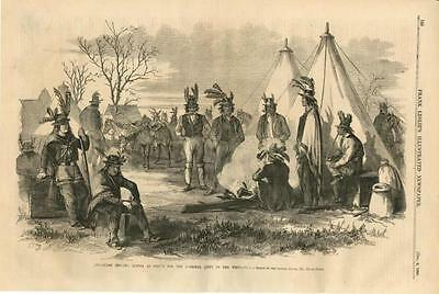 Delaware Indians, Scouts for the National Army  -  Civil War - Leslie's - 1862