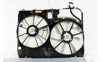 04-05 Toyota Sienna w/o Tow Radiator & Condenser Cooling Fan Assy