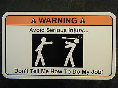 Avoid injury Tool Box Warning Sticker - Gold - Sna Funny!!! mac