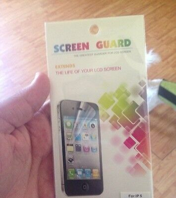I phone 5 Frosted Screen Protectors (Front & Back) Best kind Anti-Fingerprint
