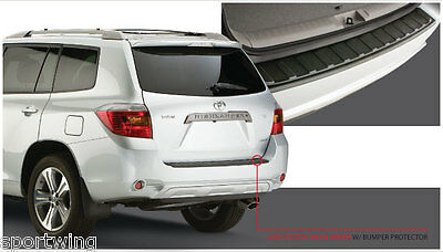 For: TOYOTA HIGHLANDER 34003 Rear Bumper Cover Protection Trim 2008-2010