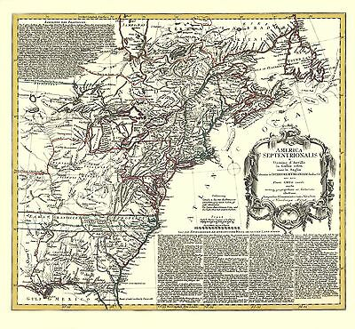 North America Map 1750.Old War Map North America And The West India Islands 1750 23 X