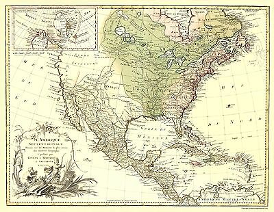 Old Revolutionary War Map - North America By Covens and Mortier 1757 - 23 x 32
