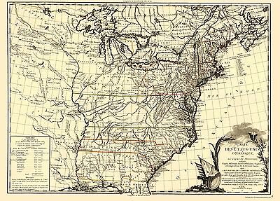 United States and the Course of the Mississippi 1783 - 23 x 30.37