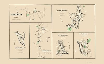 Old County Map - Litchfield Connecticut - Hurd 1893 - 23 x 37.16