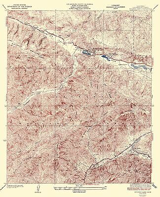 HUGHES LAKE QUAD CALIFORNIA TOPOGRAPHICAL MAP (CA) BY USGS 1937