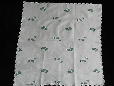 """vintage tablecloth hand embroidered. Dimensions  30""""/30.5""""   n3348"""