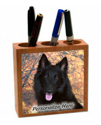 Belgian  Sheepdog  Personalized  Pencil and Pen Holder