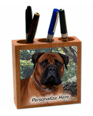 Bullmastiff   red color   ( 7 )  Personalized  Pencil and Pen Holder