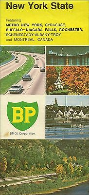 1972 BP OIL Road Map NEW YORK Albany Rochester Syracuse Buffalo Long Island