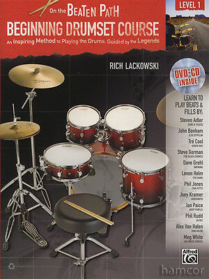 On The Beaten Path Beginning Drumset Course Level 1 Music Book/DVD/CD Drum Set